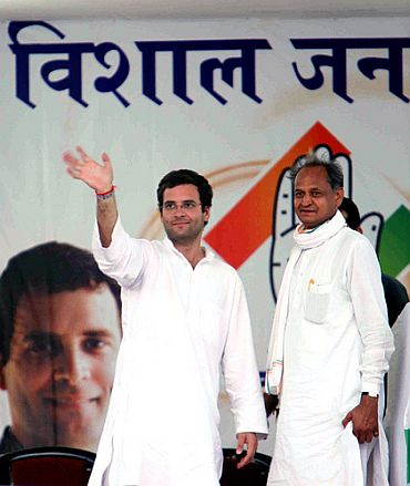 Rahul with Chief Minister Ashok Gehlot