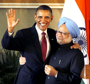 US President Barack Obama with PM Manmohan Singh
