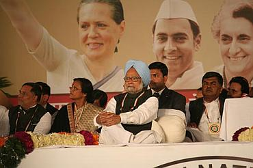 Prime Minister Manmohan Singh at the plenary