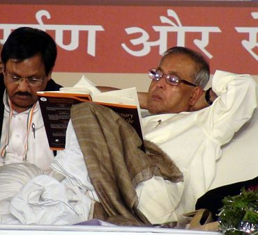 Pranab <I>da</I> taking a nap... ?