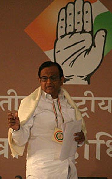Chidambaram at the plenary meet on Monday