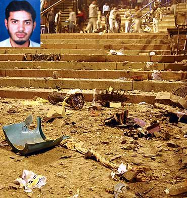 File photo of the Varanasi blast scene. (Inset) Dr Shahnawaz