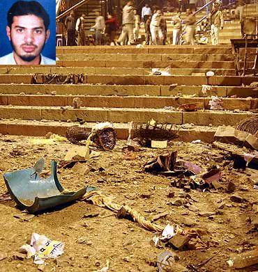 File photo of the Varanasi blast scene. (Inset) Dr Shahnawaz