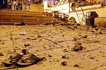 File photo of the Varanasi blast scene