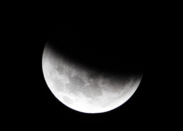 The Moon is seen during a total lunar eclipse from Mexico City