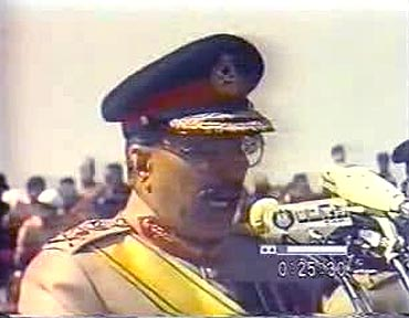 Pakistan's military dictator General Zia-ul-Haq