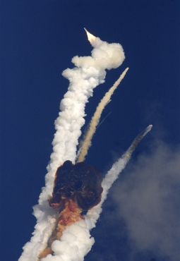 The GSLV carrying the communication satellite GSAT- 5P explodes mid-air, moments after it took off