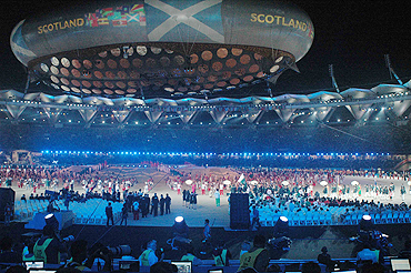 The opening ceremony of the Commonwealth Games