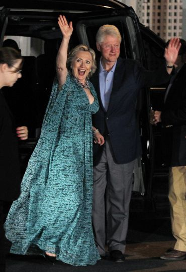Hillary Clinton with husband Bill Clinton