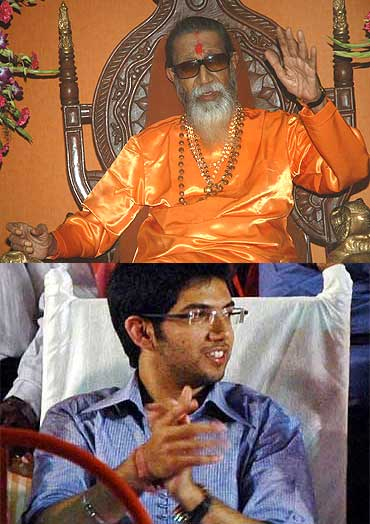 Bal Thackeray and Aditya Thackeray