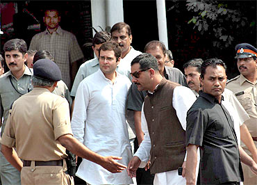 Rahul Gandhi arrives in Mumbai
