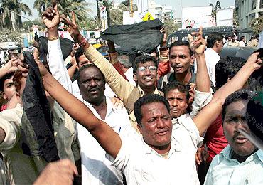 Shiv Sena activists protest