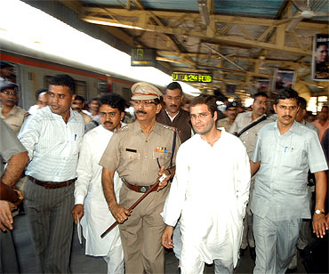 Rahul at the railway station
