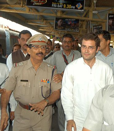 A top police officer escorts Rahul