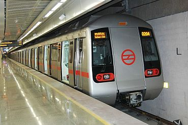 Services of Delhi Metro were on Monday affected after all the doors of a train got stuck at Keerti Nagar station in New Delhi. & Malfunctioning doors jam Delhi Metro - Rediff.com India News