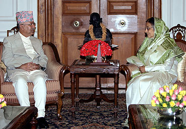 Nepal with President Pratibha Patil