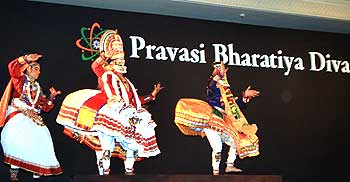 A Kathakali performance during the cultural festival
