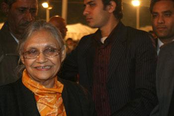 Delhi Chief Minister Sheila Dixit