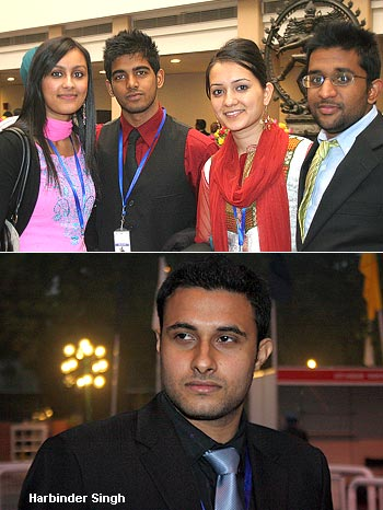 Some of the young delegates at PBD (top) and Harbinder Singh