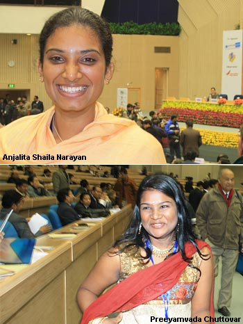 Angelita Shyla Narayan (top) and Preeyamvada Chuttovar