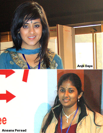 Anjli Daya (top) and Ansana Persad