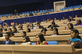 The young delegates attend a PBD event