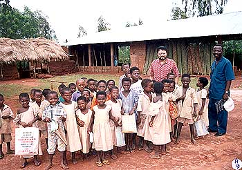 Dr. Amit Roy visiting a children's school in Togo