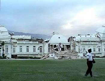 Haiti's Presidential Palace was destroyed in the earthquake