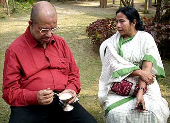 Kabir Suman with Trinamool Congress chief Mamata Banerjee