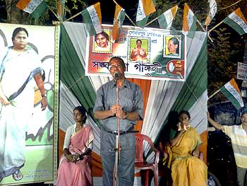 Kabir Suman at a Trinamool rally