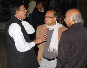 CPI-M leaders (from left) Mohd Salim, Rabin Deb and Amitava Nandy