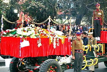 Jyoti Basu's last journey