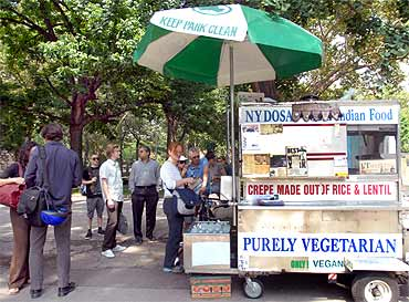 Thiru Kumar's dosa cart in New York