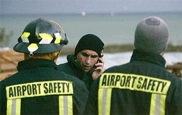 The airliner crashed shortly after take off