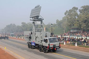 The Rohini Radar DRDO passes through Rajpath