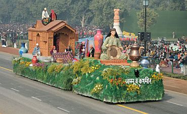 The tableau of Jammu and Kashmir