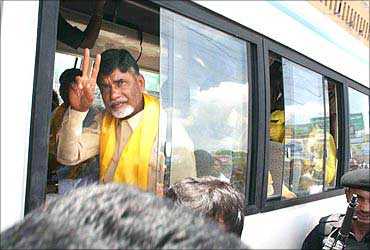 Telugu Desam Party supremo N Chandra Babu Naidu was arrested in Hyderabad