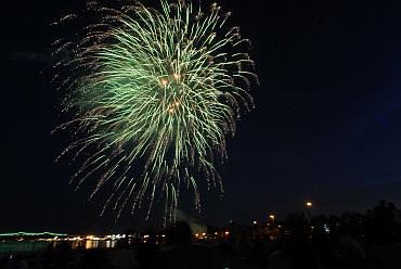 Fireworks in full glow