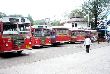Most buses remained off the streets