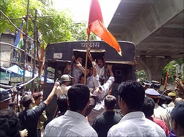 Opposition parties protest in Mumbai