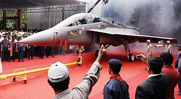 Navy's Light Combat Aircraft rolls out of hangar