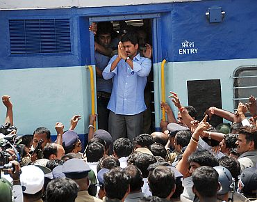 File photo of Jagan on his Odarpu Yatra