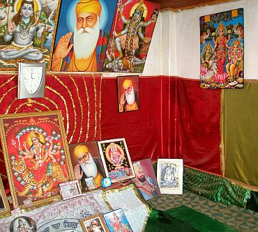 Inside the shrine of Peer Baba