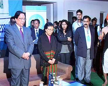NSCN leader T Muivah (extreme left)