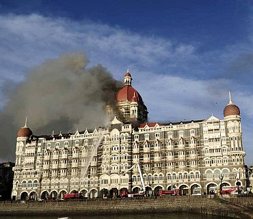 The Taj Mahal hotel in Mumbai, one of the sites of the attack