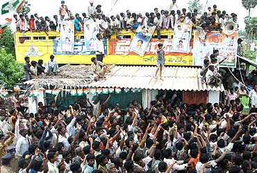 Thousands gathered at Srikakulam to catch a glimpse of Jagan