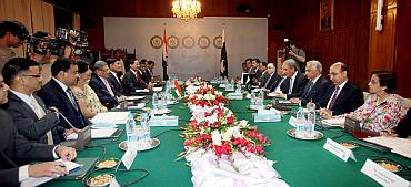 The bilateral meeting between the Indian and Pakistani delegations in Islamabad