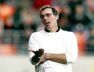 New French coach Laurent Blanc, a member of the 1998 World Cup-winning side