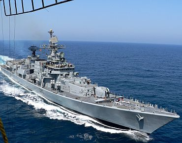 INS Mysore on patrolling duty