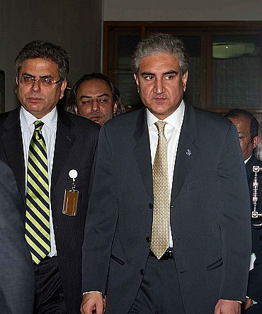 Pakistan Foreign Minister Shah Mehmood Qureshi at the International Conference on Afghanistan in Kabul on Tuesday